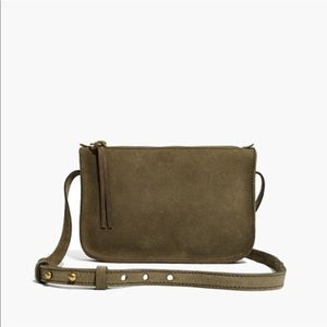 Madewell simple crossbody in olive
